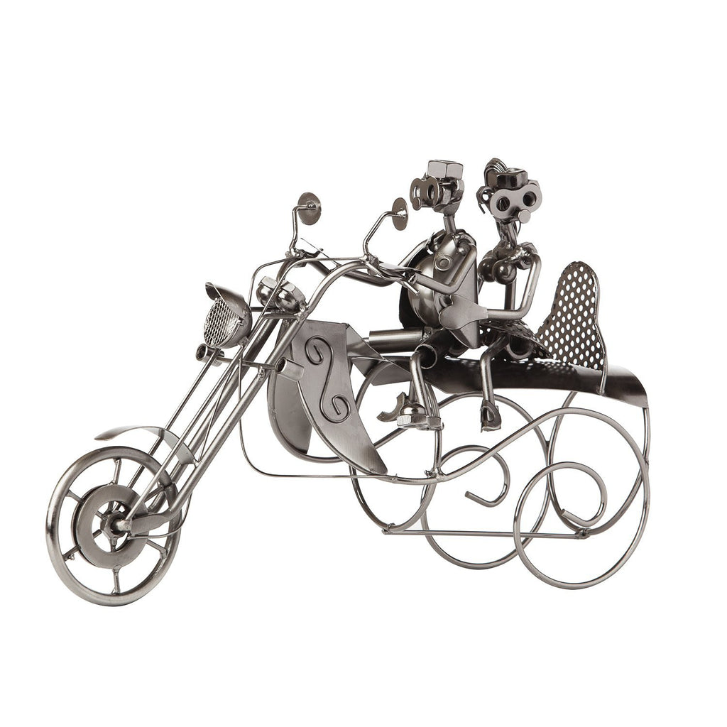 "BRUBAKER Wine Bottle Holder ""Couple On A Motorcycle"" 6008"