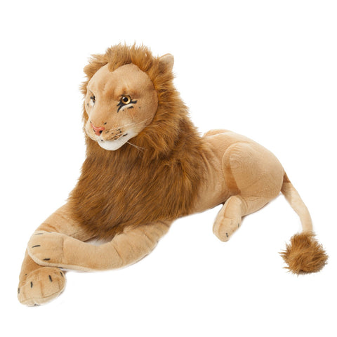 BRUBAKER Brown Plush Lion - 43 Inches long