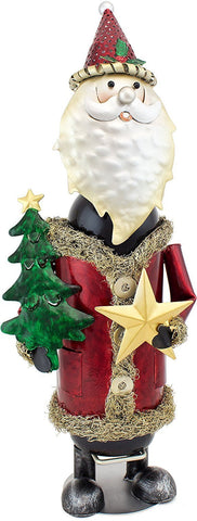 "BRUBAKER Wine Bottle Holder ""Santa Claus"" in Vintage Look - Hand-Painted Sculptures and Figurines Decor Wine Racks and Stands Gifts Decoration"