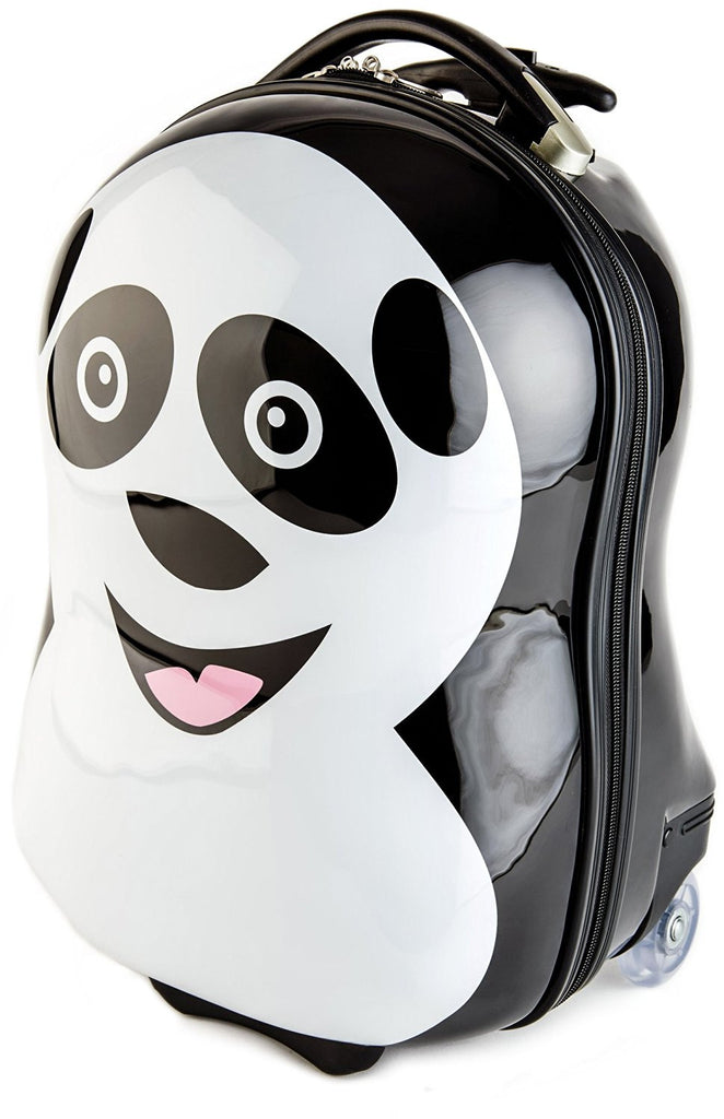 BRUBAKER Suitcase Luggage for Kids - Panda, Penguin or Piggy