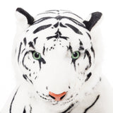 BRUBAKER White Plush Tiger 42 Inch Stuffed Animal