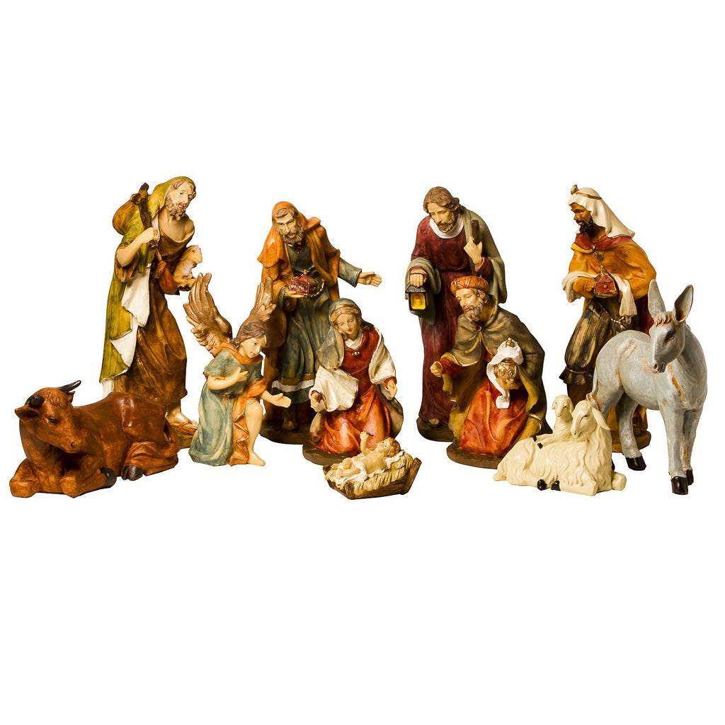 "BRUBAKER Christmas Nativity Set - 11"" Real Life Nativity Set - 11 Figurines"