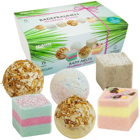 "BRUBAKER ""Caribbean Dream"" Bath Melts Gift Set - Vegan - Organic"