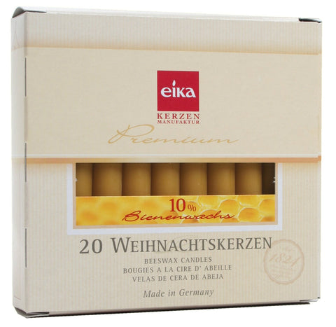 Eika Christmas Tree Candles - 10% Beeswax - Box of 20