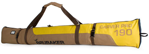 "BRUBAKER Ski Bag ""Carver Pro"" for 1 Pair of Skis and Poles - Brown/Yellow"