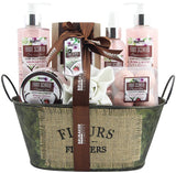 BRUBAKER Cosmetics 'Coconut Milk & Strawberry' 10-Pieces Bath Gift Set in Vintage Tub 17CF08