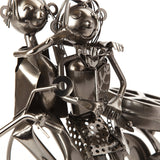 "BRUBAKER Wine Bottle Holder ""Couple On A Motorcycle"" 7054"