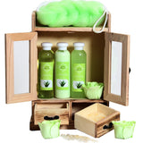 10 Pieces BRUBAKER Beauty Gift Set Women's Bath Set Wooden Cabinet - Many Fragrances