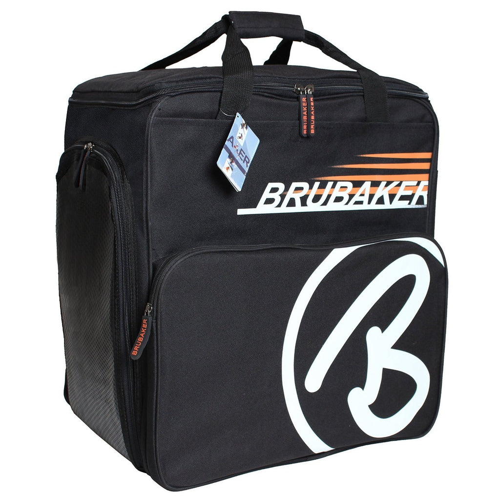 "BRUBAKER Winter Sports Boot Bag & Helmet Bag ""SUPER CHAMPION"" - Backpack - Black/Orange"