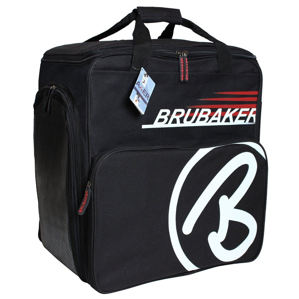 "BRUBAKER Winter Sports Boot Bag & Helmet Bag ""SUPER CHAMPION"" - Backpack - Black/Red"
