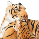 "BRUBAKER Brown Plush Tiger with Baby 40"", Soft Toy, Stuffed Animal"