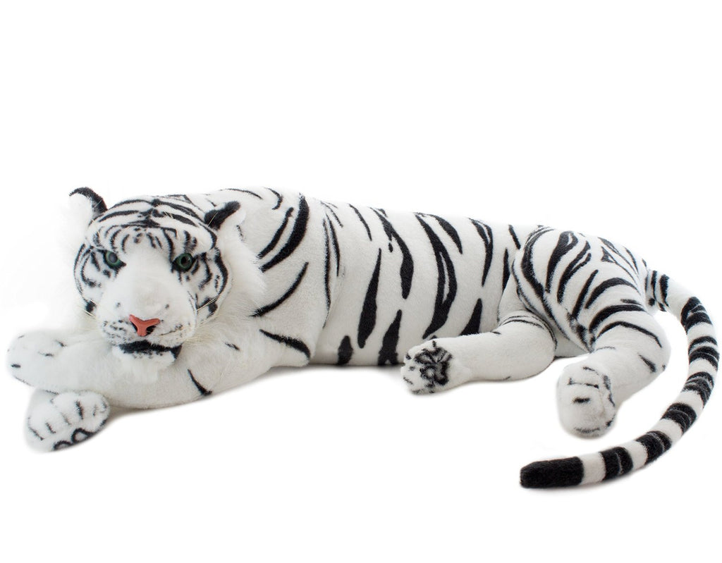 Brubaker White Plush Tiger 34 Inches Stuffed Animal Toy