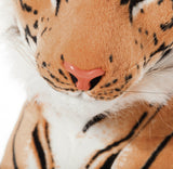 "BRUBAKER Brown Plush Tiger - 42"" - Stuffed Animal"