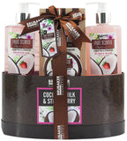 BRUBAKER Cosmetics 'Coconut Milk & Strawberry' 5-Pieces Bath Set in Gift Box 17CF09