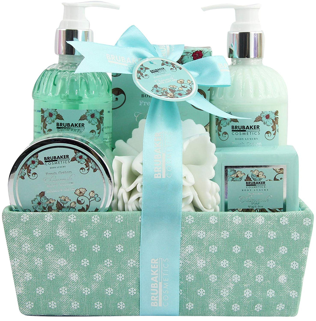 Brubaker Cosmetics Chamomile Fresh Cotton 7 Pieces Bath Gift Set In