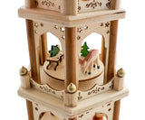 "BRUBAKER Christmas Pyramid 18"" Wood Nativity Play, 3 Tier Carousel"
