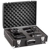 BRUBAKER Pro Aluminum Digital SLR Camera Case - Foam Padded - Black