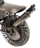 "BRUBAKER Wine Bottle Holder Biker ""Motorcyclist"" 7017"