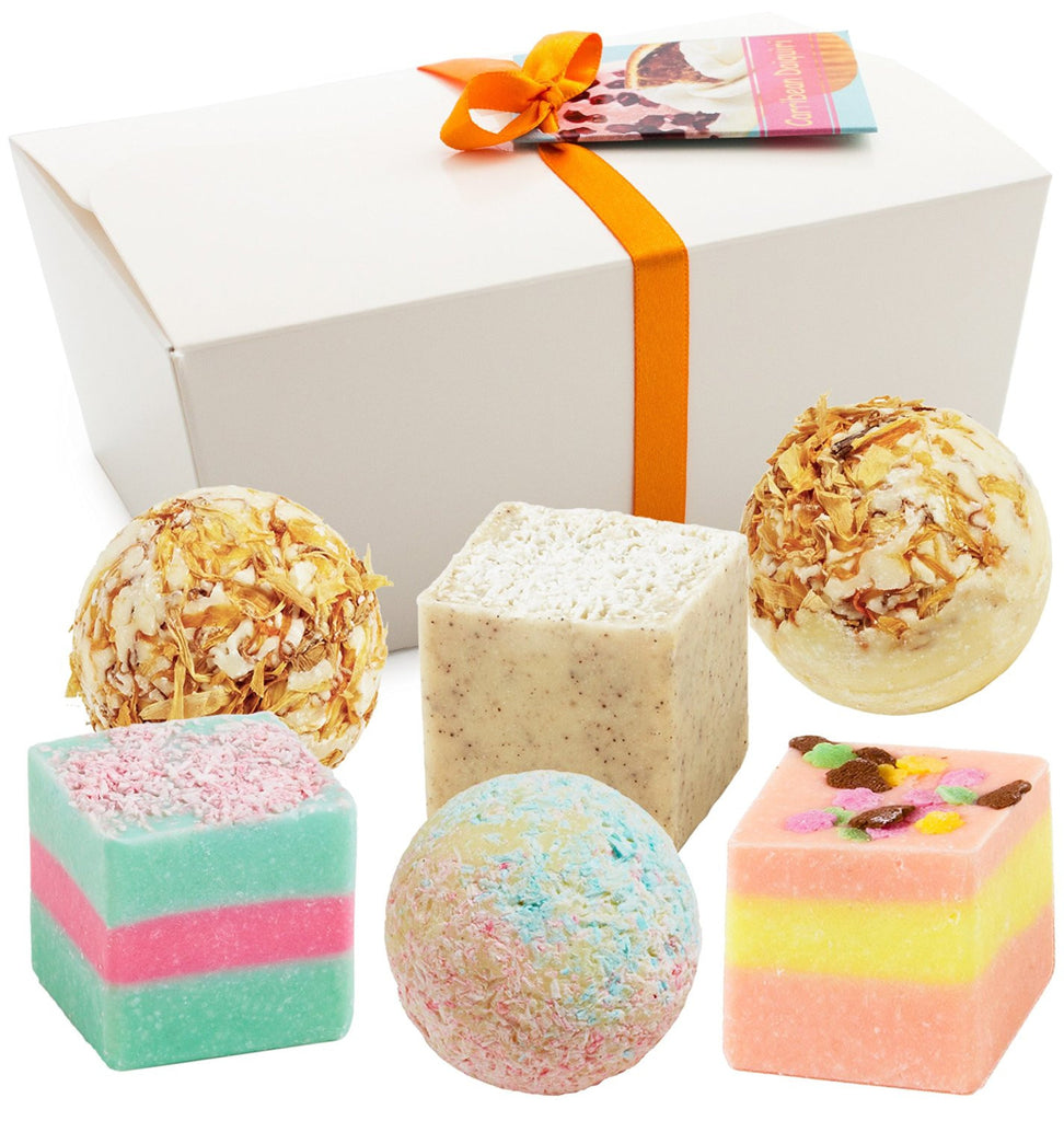 "BRUBAKER ""Caribbean Daiquiri"" Bath Melts Gift Set - Vegan - Organic"
