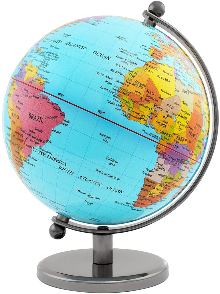 Map Of The Globe Of The World.Brubaker Political World Globe Office Decoration 7 5 Inches Tall Light Blue
