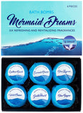"BRUBAKER 6 Handmade ""Mermaid Dreams"" Bath Bombs - All Natural, Vegan, Organic Ingredients - Amaranth Oil - Recommended by Mermaids"