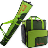 BRUBAKER Ski Bag Combo for Ski, Poles, Boots and Helmet - Limited Edition - Dark Green