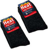 BRUBAKER Heat my Feet Thermal Socks - 2 Pairs - Multiple Colors