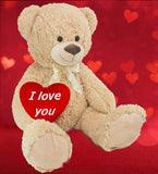BRUBAKER XXL Plush Teddy Bear - 40 Inches Tall - with 'I Love You' Plush Heart - Stuffed Animal for a Loved One…