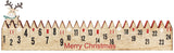 BRUBAKER Advent Calendar - Wooden Fence with Elk - Red/Green - Natural Colors - 21.7 x 3.8 x 0.7 inches
