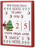 BRUBAKER Advent Calendar - Wooden Board with Calendar Sheets - White with 6 LED Lights - 11 x 1.57 x 14 inches