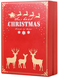 BRUBAKER Advent Calendar Wooden Christmas Book with 24 drawers - Red - 8.3 x 3.5 x 11.8 inches