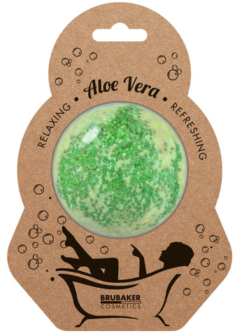 "BRUBAKER Huge Handmade Fizzing Bath Bomb ""Aloe Vera"" - Bath Fizzer - All Natural, Vegan, Organic Ingredients"