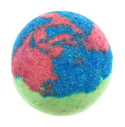 "BRUBAKER Huge Handmade Fizzing Bath Bomb ""Adventure"" - Bath Fizzer - All Natural, Vegan, Organic Ingredients - Bulk"