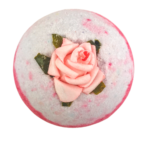 "BRUBAKER Huge Handmade Fizzing Bath Bomb ""Passion"" - Bath Fizzer - All Natural, Vegan, Organic Ingredients - Bulk"