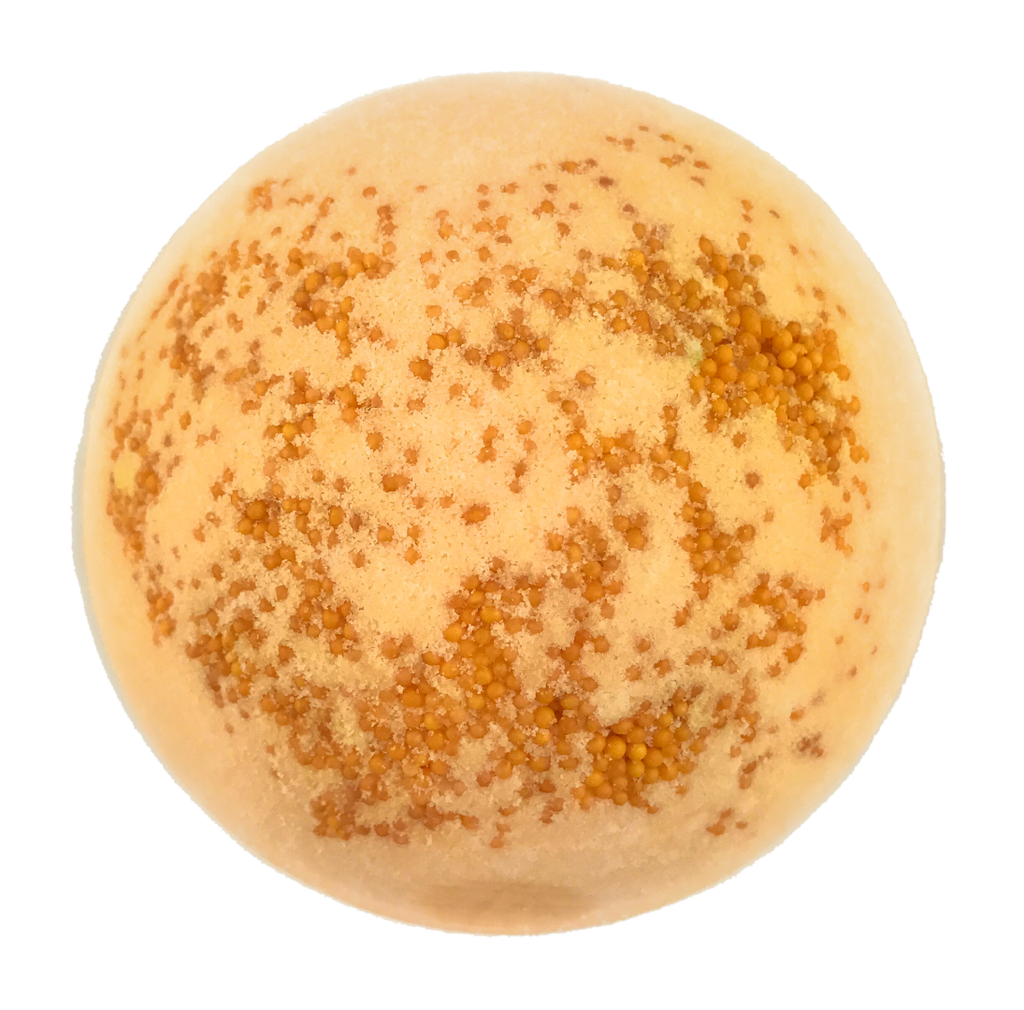 "BRUBAKER Huge Handmade Fizzing Bath Bomb ""Peach"" - Bath Fizzer - All Natural, Vegan, Organic Ingredients - Bulk"