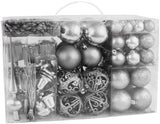 BRUBAKER 102 Pack Assorted Christmas Ball Ornaments - Shatterproof - with Green Pickle and Tree Topper - Designed in Germany