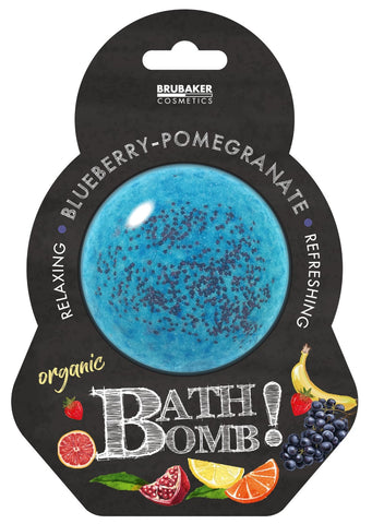 "BRUBAKER Huge Handmade Fizzing Bath Bomb ""Blueberry/Pomegranate"" - Bath Fizzer - All Natural, Vegan, Organic Ingredients"