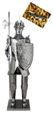 BRUBAKER Wine Bottle Holder 'Knight' - Table Top Metal Sculpture