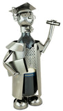 BRUBAKER Wine Bottle Holder 'Graduation' - Table Top Metal Sculpture
