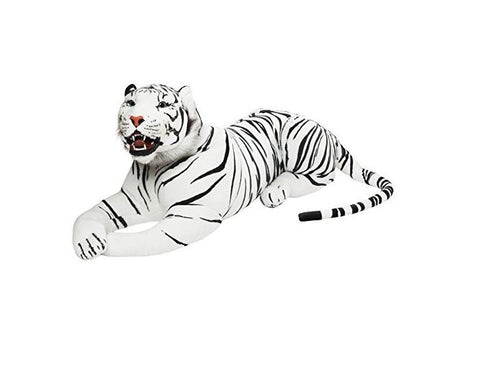 BRUBAKER Big White Tiger - 51 Inches - Stuffed Animal - Soft Plush