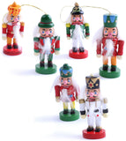 BRUBAKER 6-Pcs Nutcracker Pendant - Christmas Tree Hanging Ornaments Set - Wooden Christmas Tree Decorations - Hand Painted
