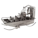 BRUBAKER Metal Sculpture Airboat - Handmade Home Decor