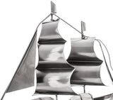 "BRUBAKER Wine Bottle Holder ""Sailing Boat"" - Metal Sculpture - Wine Rack Decor - Tabletop - With Greeting Card"