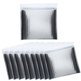 BRUBAKER Thermal Insulated Bubble Mailers 11 x 9.8 Padded Cool Shields - Pack Size 5 to 100 - Peel and Seal - Metallic foil