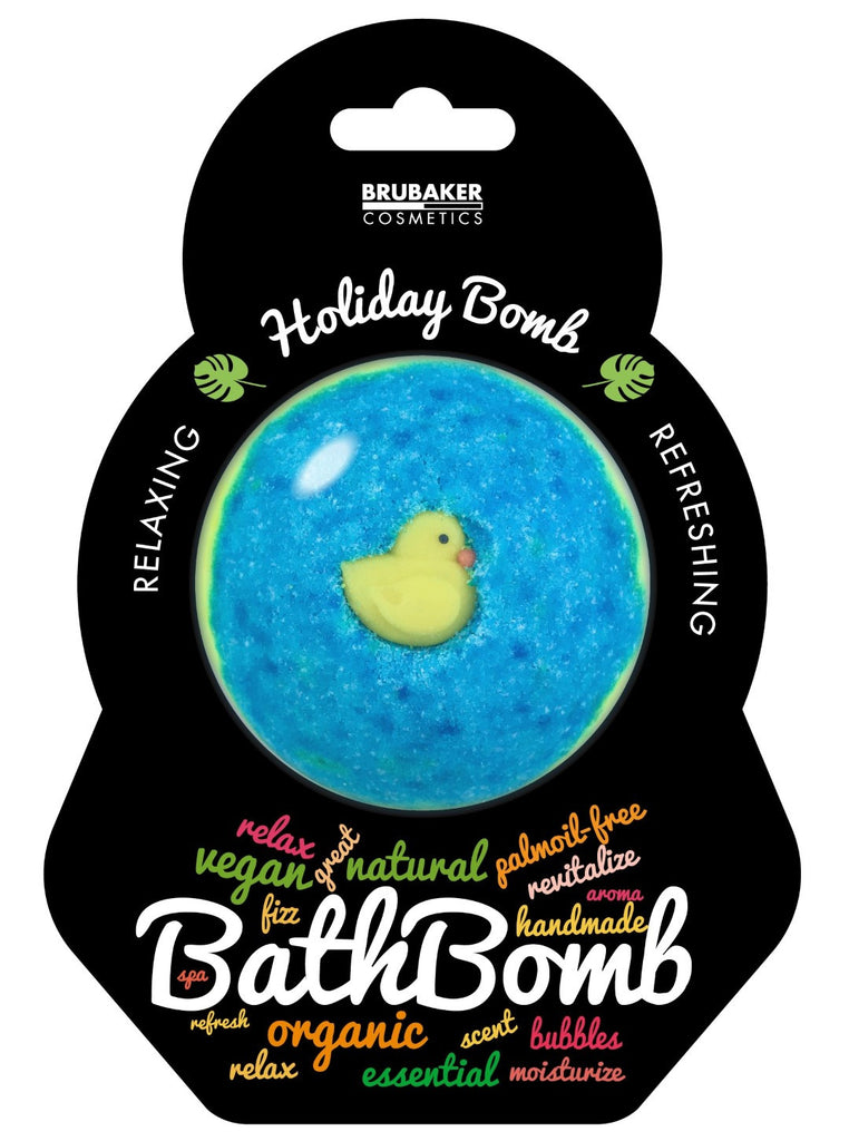 "BRUBAKER Huge Handmade Fizzing Bath Bomb ""Holiday"" - Bath Fizzer - All Natural, Vegan, Organic Ingredients"