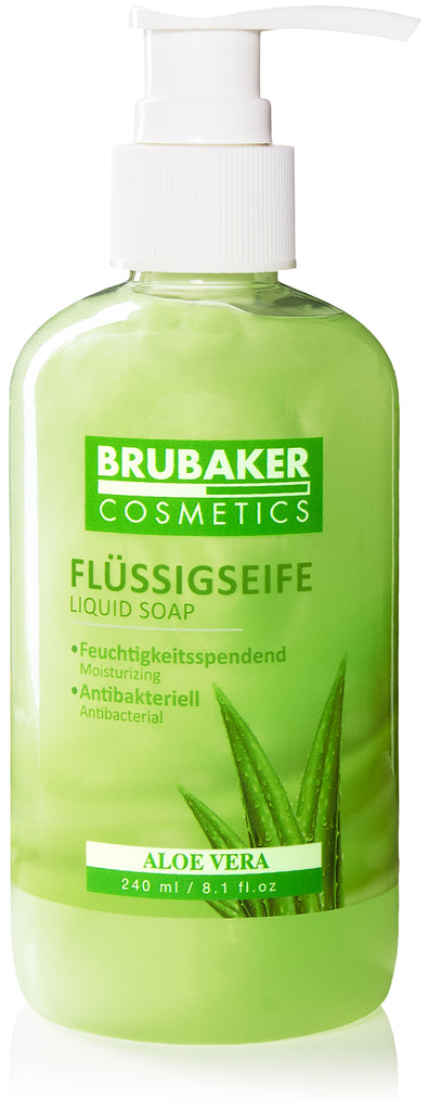 BRUBAKER Cosmetics Liquid Hand Wash 8.1 Fl. Oz. in a Practical Dispenser - Hand Soap - Cleans Gently and Moisturises - for Hygienically Clean Hands