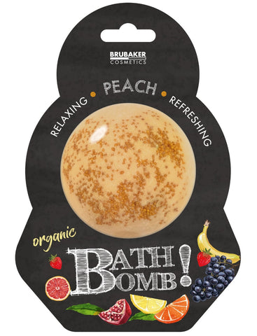 "BRUBAKER Huge Handmade Fizzing Bath Bomb ""Peach"" - Bath Fizzer - All Natural, Vegan, Organic Ingredients"