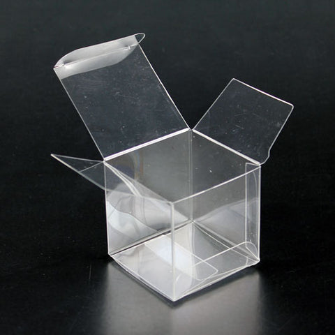 "Clear Plastic Box 1.5""x1.5""x1.5"" - Pack of 100"