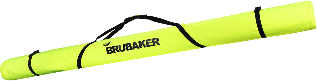 BRUBAKER XC Touring Cross-Country Ski Bag For 1 Pair of Skis and 1 Pair of Poles - Neon Yellow / Black