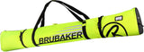 BRUBAKER Ski Bag Carver Champion For 1 Pair of Skis and Poles  - Neon Yellow / Black